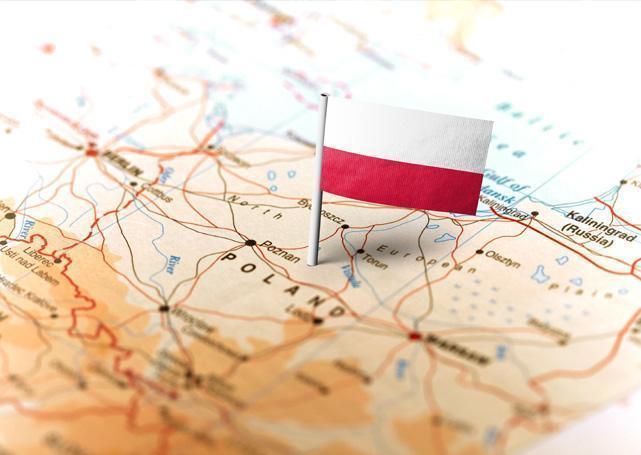 flaga Polski namapie