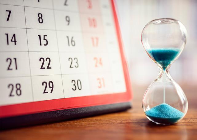 Kalendarz zklepsydrą